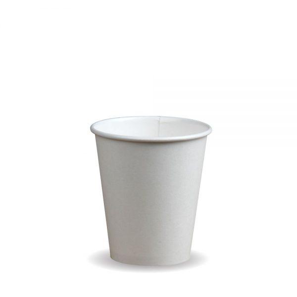 8oz Single Wall White Compostable Bio Cup
