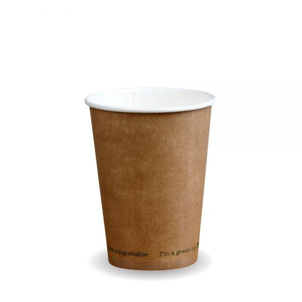 12oz Single Wall Compostable Kraft Bio Cup