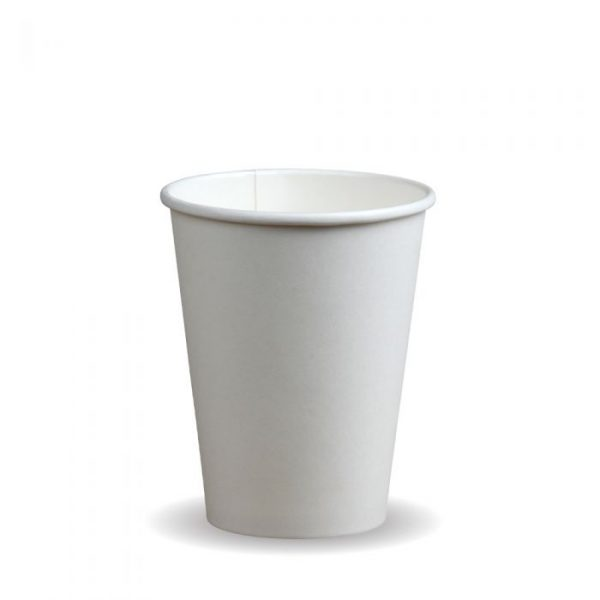 12oz Single Wall White Compostable Bio Cup