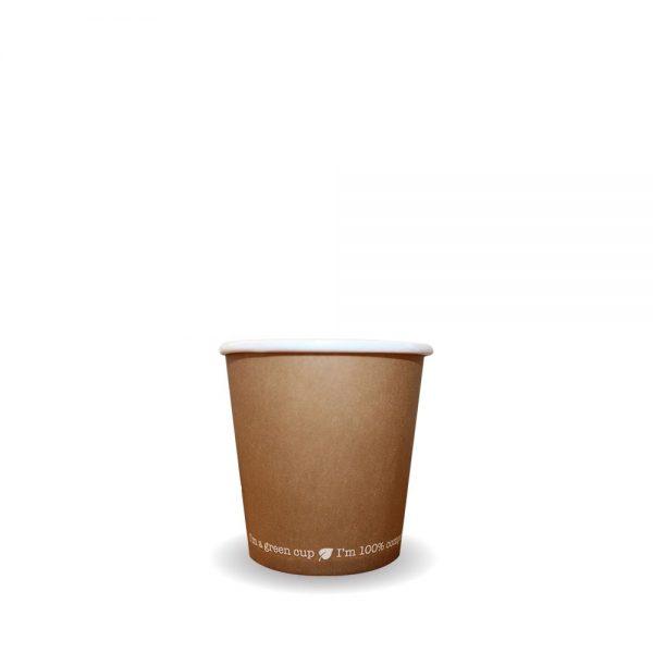 4oz Single Wall Compostable Kraft Bio Cup