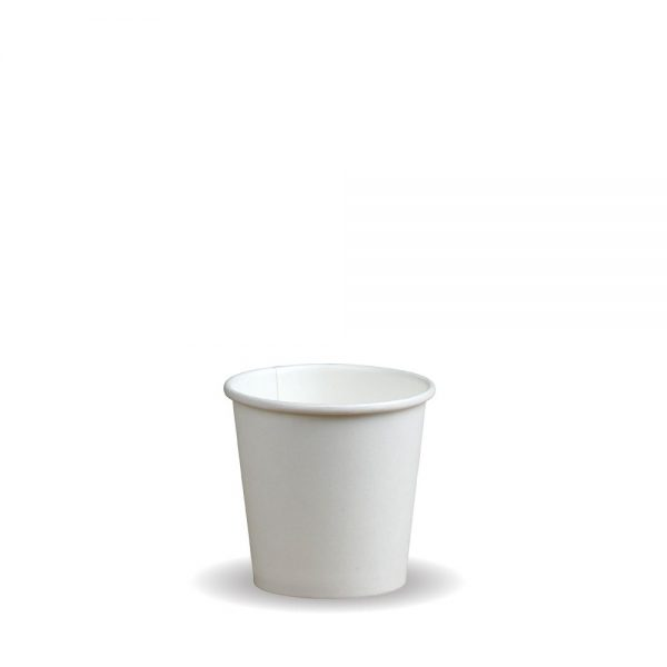 4oz Single Wall White Compostable Bio Cup