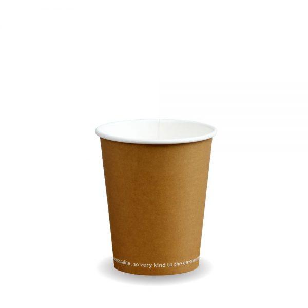 8oz Single Wall Compostable Kraft Bio Cup