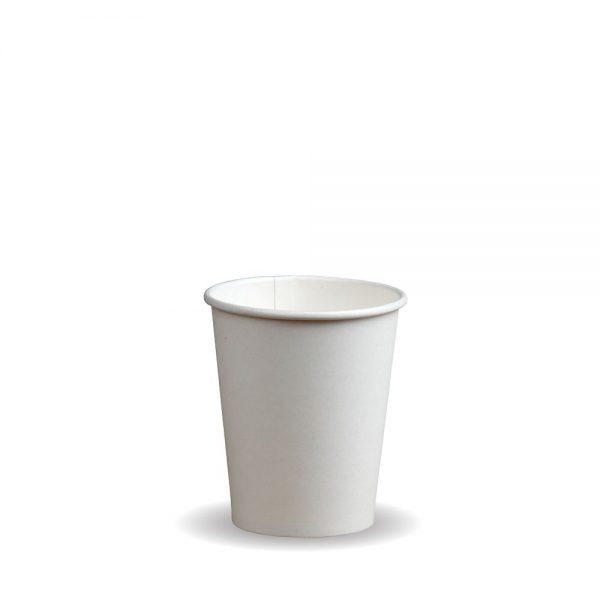 6oz Single Wall White Compostable Bio Cup