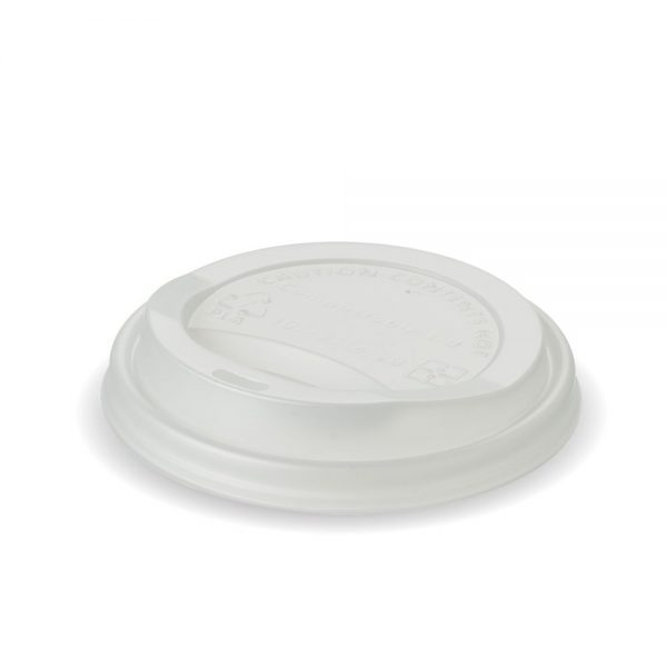 12oz and 16oz White Compostable PLA Cup Lid