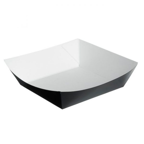 Compostable Chip Tray Black 150x150mm / 300ml