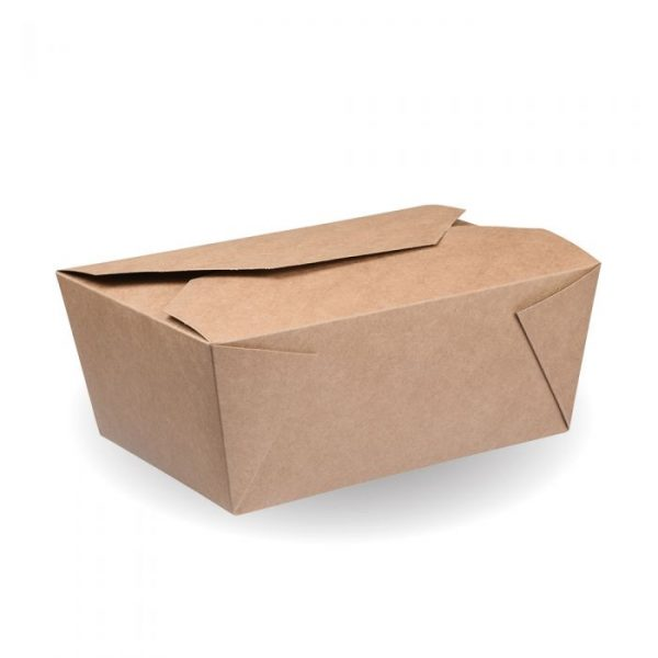 No8 Compostable Kraft Hot Food Box 170x135mm Biodegradable