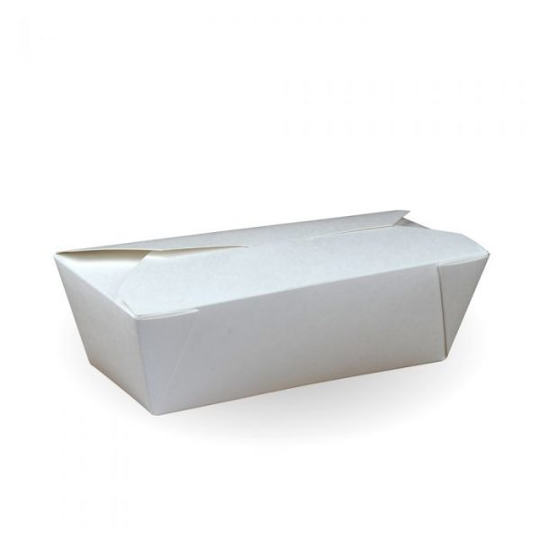No6a Recyclable White Hot Food Box 155x185mm / 800ml