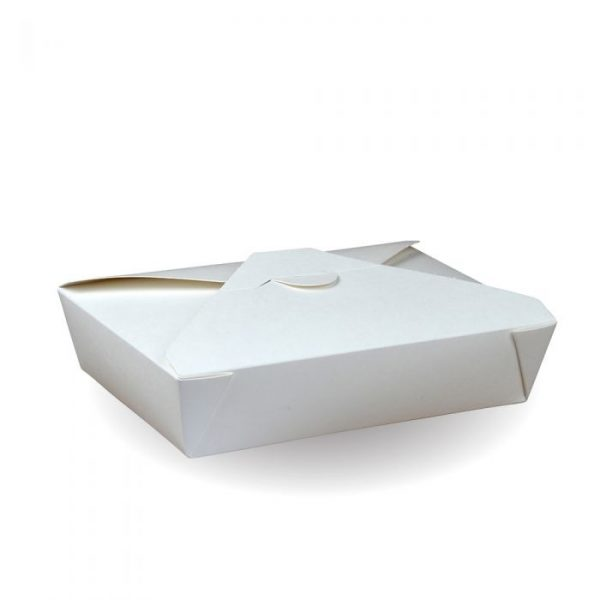 No2 Recyclable White Hot Food Box 215x157mm