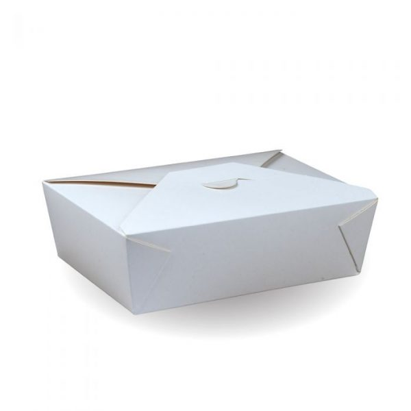 No8 Recyclable White Hot Food Box 170x135mm