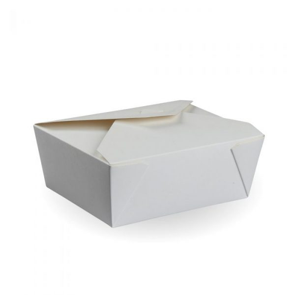 No3 Recyclable White Hot Food Box 215x150mm