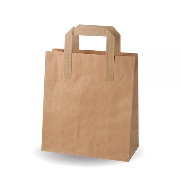 Medium Brown Kraft SOS Bag Compostable - Pack 250