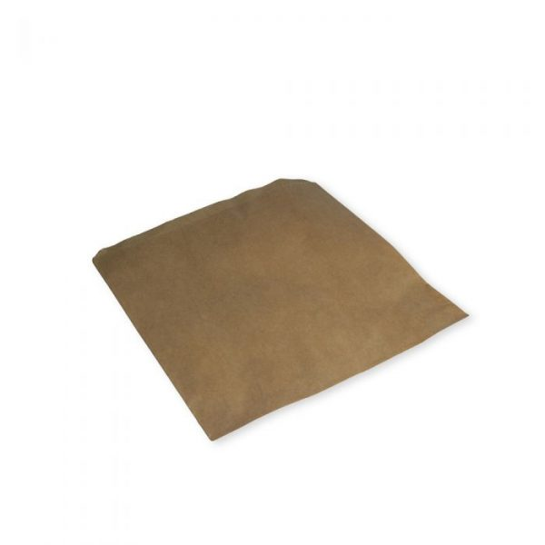 "Small 7"" Brown Kraft Strung Compostable Bags"