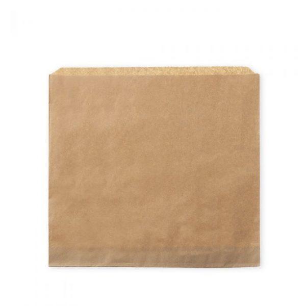 "Medium 8"" Brown Kraft Strung Compostable Bags"