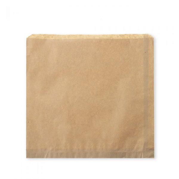 "Large 10"" Brown Kraft Strung Compostable Bags"