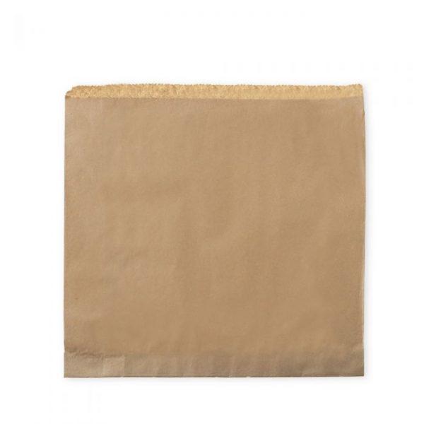"Large 12"" Brown Kraft Strung Compostable Bags"