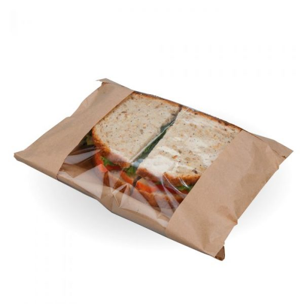 "Medium 10"" Kraft Film Front Bag Compostable"