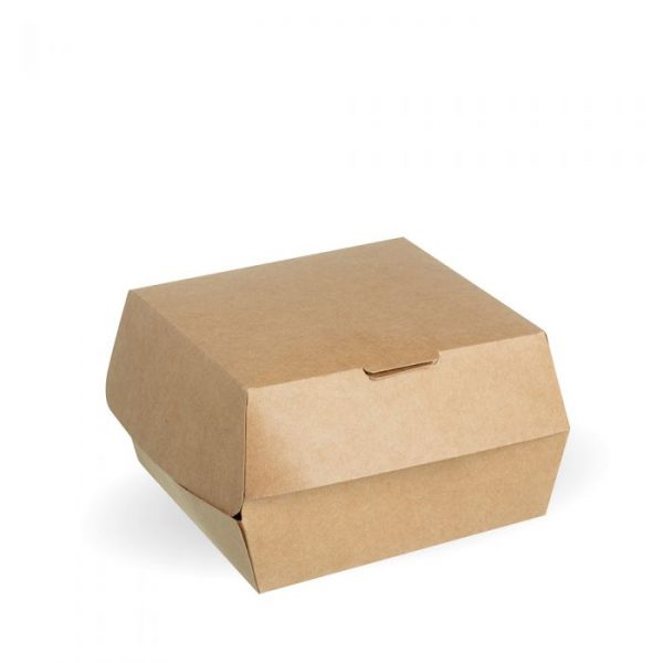 Compostable Kraft Burger Box 114x114x70mm Biodegradable