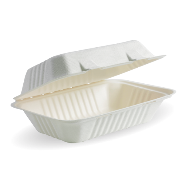"Compostable Sugarcane Box 9x6x3"" Biodegradable"