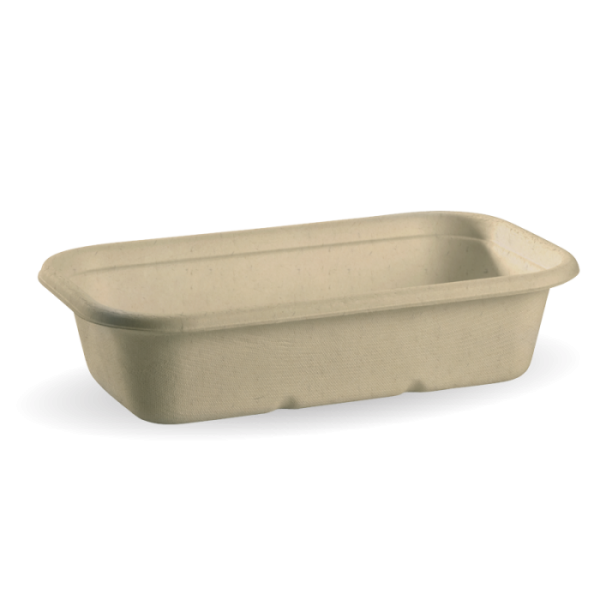 Compostable Natural 1000ml Takeaway Container Base Biodegradable