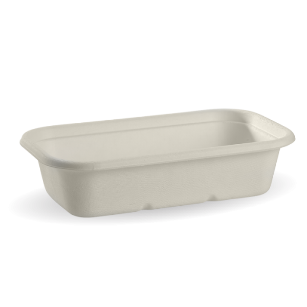 Compostable White 1000ml Takeaway Container Base Biodegradable
