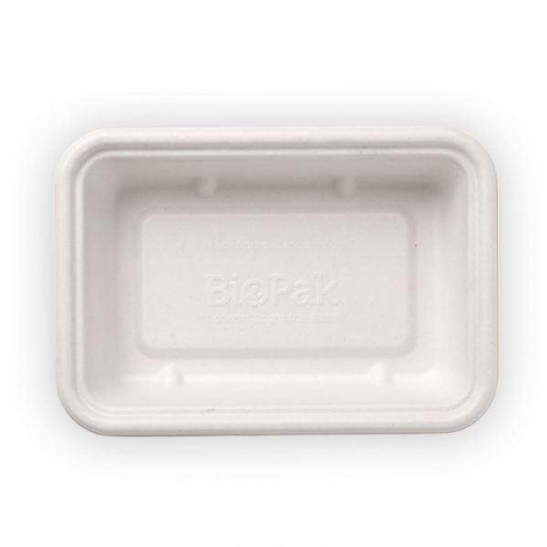 Compostable White 500ml Takeaway Container Base Biodegradable