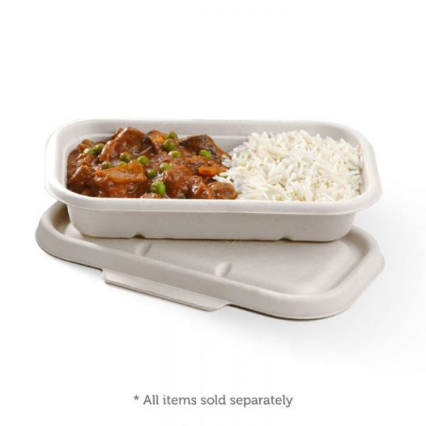 Compostable White 750ml Takeaway Container Base Biodegradable