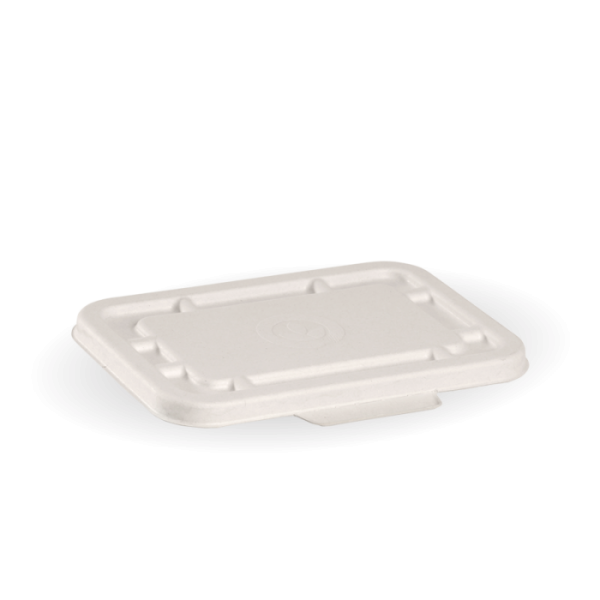 Compostable White Lid For 500ml / 600ml Takeaway Container Biodegradable