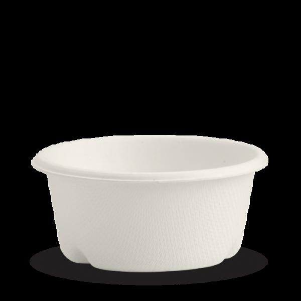 Compostable 2oz White 60ml Takeaway Sauce Pot Biodegradable