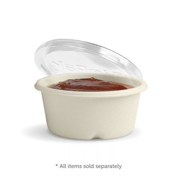 Clear Lid For 60ml Sauce Pot Biodegradable