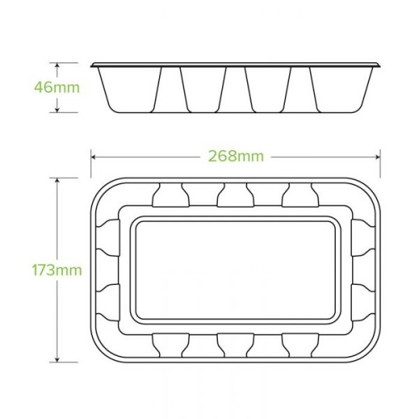Compostable 1kg Produce Tray Biodegradable