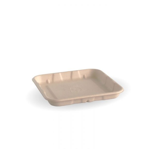 "Compostable 5x5"" Produce Tray Biodegradable"