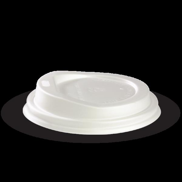 6oz & 8oz White Compostable PLA Cup Lid