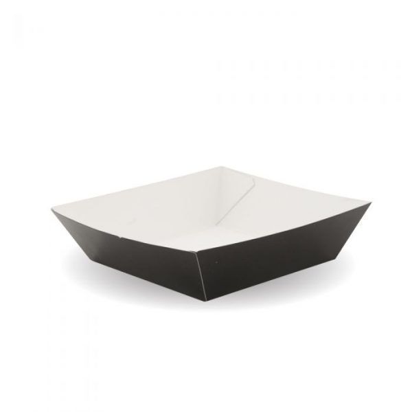 Compostable Burger Tray Black 160x130mm / 510ml