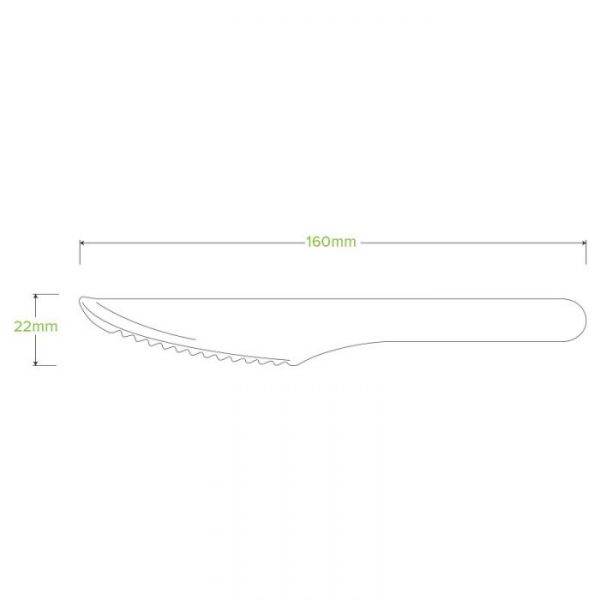 Compostable Wood Knife 16cm Biodegradable