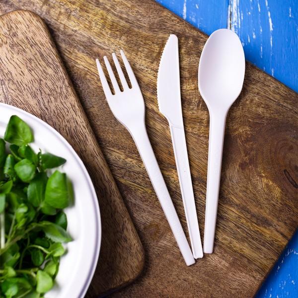 Vegware Plant Starch Bio Plastic CPLA Compostable Knife - Pack 1,000