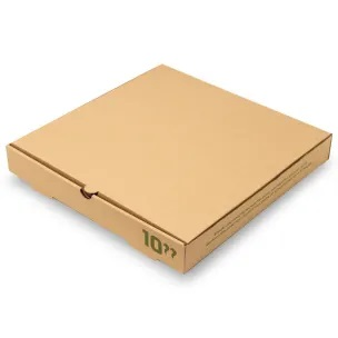 "Compostable 10"" Kraft Pizza Box"