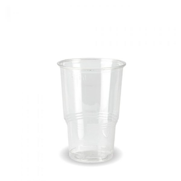 Compostable Clear Disposable Half Pint Cup CE Marked - Pack 70