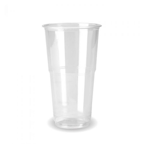 Compostable Clear Disposable Pint Cup CE Marked - Pack 60