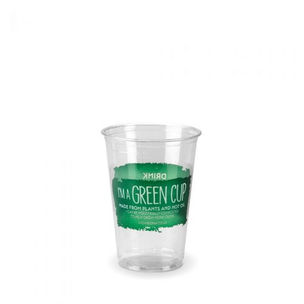 Compostable Clear Disposable 7oz/250ml GREEN Cup - Pack 100