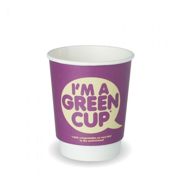 "12oz Double Wall Compostable ""I'm A Green Cup"" Bio Cup Insulated"