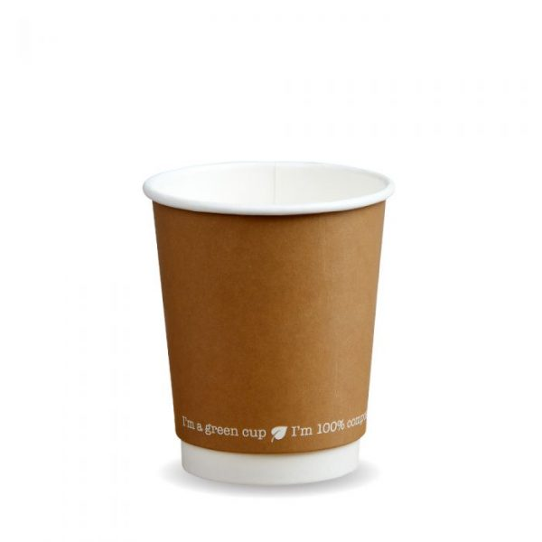 12oz Double Wall Compostable Kraft Bio Cup Insulated