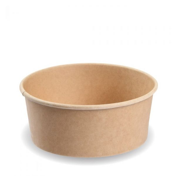 Compostable 1300ml Kraft Salad Bowl Biodegradable