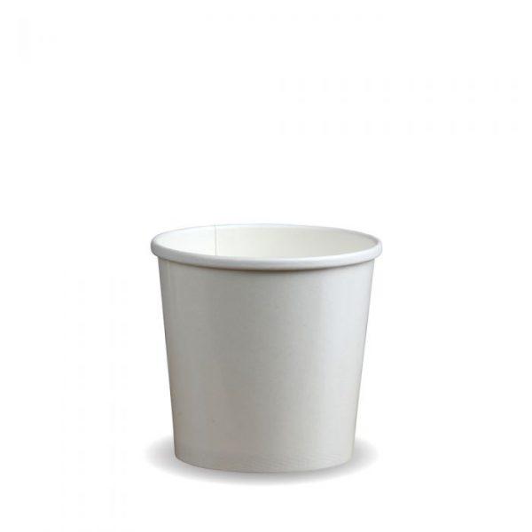 Compostable PE White 12oz Soup Container
