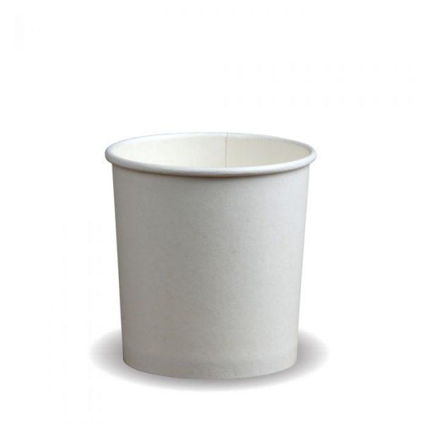 Compostable PE White 16oz Soup Container
