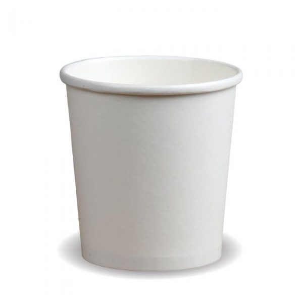 Compostable PE White 32oz Soup Container