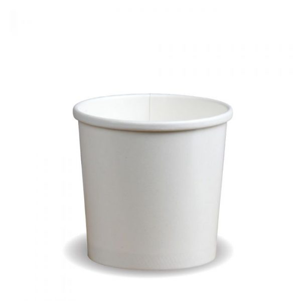 Compostable White 12oz Soup Container