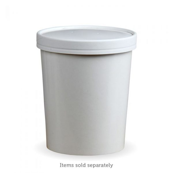 Compostable White 16oz Soup Container