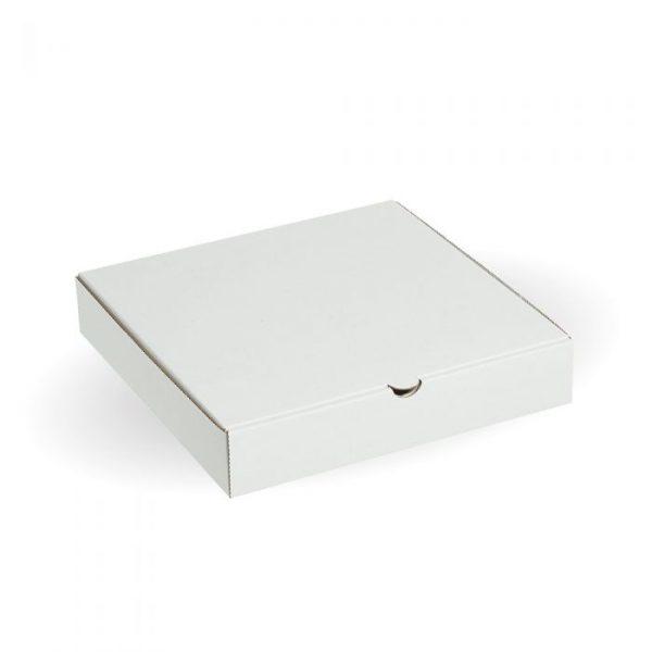 "Compostable 9"" White Pizza Box"