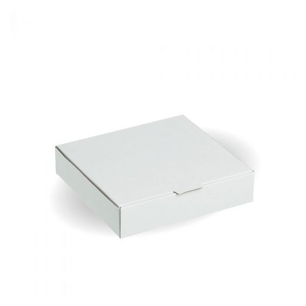 "Compostable 7"" White Pizza Box"