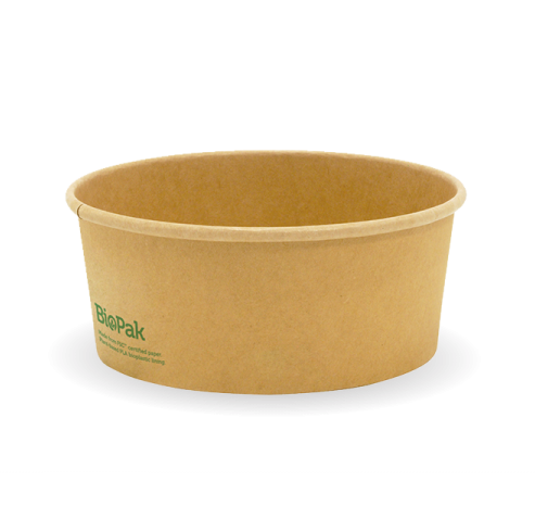 Compostable 750ml Kraft Salad Bowl - Pack 400